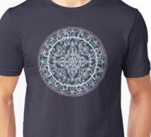 Detailed Teal and Blue Mandala Pattern Unisex T-Shirt