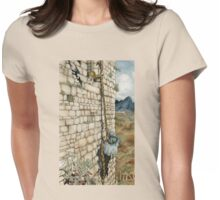 Watercolor Tribute to Arthur Rackham's Rapunzel Womens Fitted T-Shirt