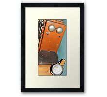 Mobile Phone. Old railway phone & lantern. Framed Print
