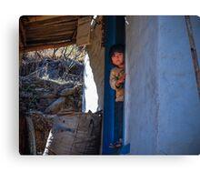 Nepal- The Little Boy Canvas Print