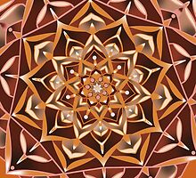 taupe and red mandala by resonanteye