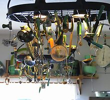 Campy Ceiling Light in a Unique cafe...Hailey, Idaho by trueblvr