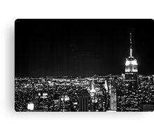 New York City at Night Canvas Print