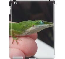 Green Anole lizard iPad Case/Skin