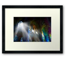 Ray Brushed Framed Print