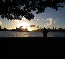 Sydney at Sunset by Bernie Stronner