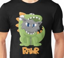 Cat Dino Onesie Unisex T-Shirt