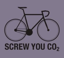 SCREW YOU CO2 | Black Ink by TweetTees