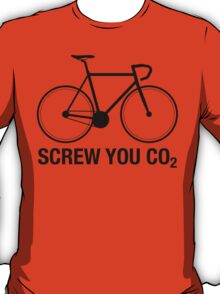 SCREW YOU CO2 | Black Ink T-Shirt