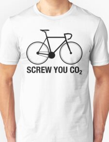 SCREW YOU CO2 | Black Ink Unisex T-Shirt