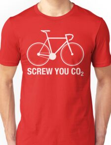 SCREW YOU CO2   White Ink Unisex T-Shirt