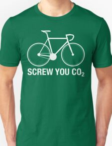 SCREW YOU CO2 | White Ink T-Shirt