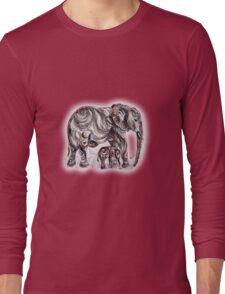 Mother Elephant  Long Sleeve T-Shirt