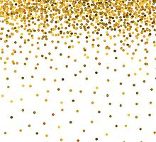 Gold Confetti by pencreations