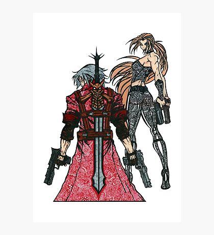 Devil May Cry Doodle #2  Photographic Print