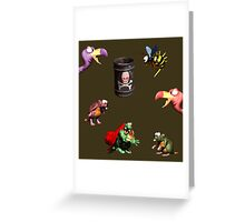 Donkey Kong Country - Bosses Greeting Card