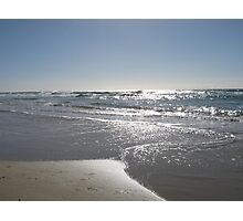 Silver Beach Photographic Print