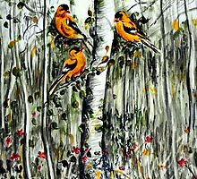 Gold Finches by Harsh  Malik