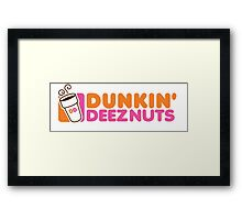 Dunkin Deeznuts Framed Print