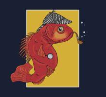 Sherlock Fish One Piece - Short Sleeve