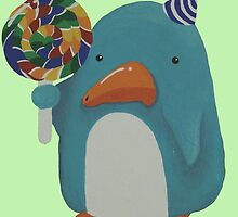 Party Penguin by SequinPalette