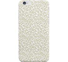 Cream Leopard Print iPhone Case/Skin