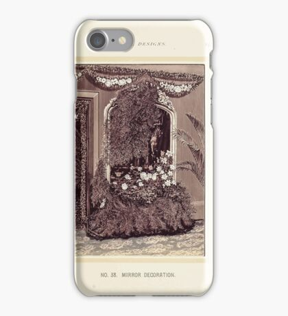 Floral Designs Series I a hand book for cut flower workers and florists John Horace McFarland 1888 0089 Mirror Decoration iPhone Case/Skin