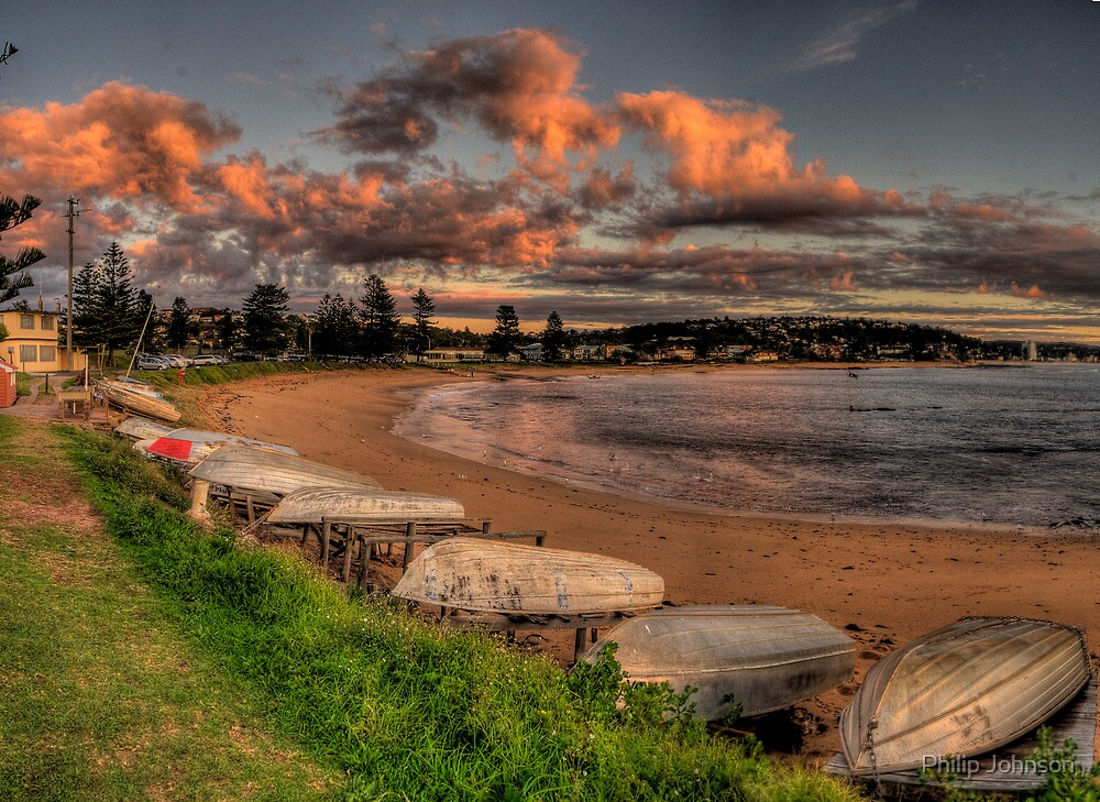 Beached - Long Reef, Sydney (25 Exposure HDR Panoramic) - The HDR Experience by Philip Johnson