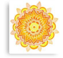 Mandala: Orange/Yellow Canvas Print