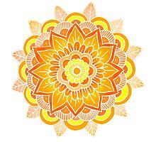 Mandala: Orange/Yellow Photographic Print