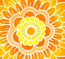 Mandala: Orange/Yellow Sticker