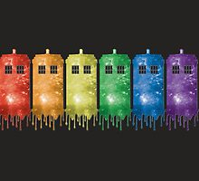 Rainbow Galaxy Tardis by ktgraham