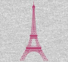 Pink Eiffel Tower Baby Tee