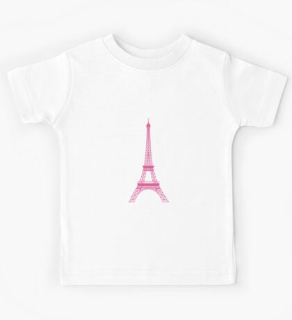 Pink Eiffel Tower Kids Tee