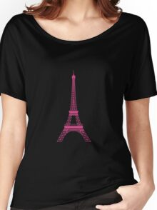 Pink Eiffel Tower Women's Relaxed Fit T-Shirt