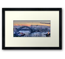 Misty - Sydney Harbour, Sydney Australia ( 35 Exposure HDR Panorama) - The HDR Experience Framed Print
