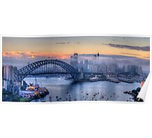 Misty - Sydney Harbour, Sydney Australia ( 35 Exposure HDR Panorama) - The HDR Experience Poster