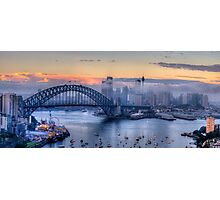 Misty - Sydney Harbour, Sydney Australia ( 35 Exposure HDR Panorama) - The HDR Experience Photographic Print