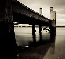 Jetty - Wallis Lake, Tuncurry by Spoungeworthy
