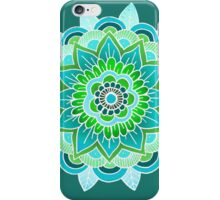 Mandala: Blue/Lime  iPhone Case/Skin