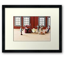 There was some confusion at the Pilsbury plant when the robber yelled, 'Fork over the dough!' Framed Print