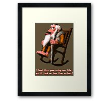 Donkey Kong Country - Cranky Kong Framed Print