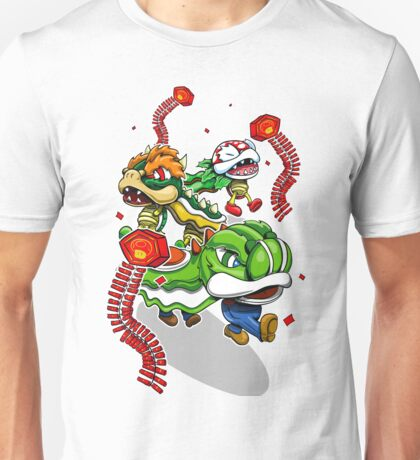 Mushroom Kingdom New Years Lion Dance Unisex T-Shirt