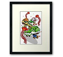 Mushroom Kingdom New Years Lion Dance Framed Print