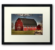 Old Red on the Prairies Framed Print