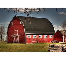 Old Red on the Prairies Photographic Print