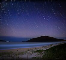 Star trails, Tea Gardens by Spoungeworthy
