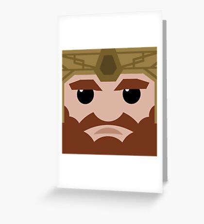 Dwarf Square Greeting Card