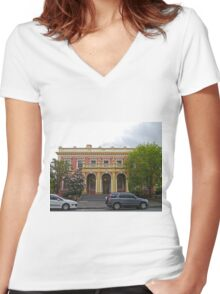 State Government Building, Launceston, Tas, Australia Women's Fitted V-Neck T-Shirt