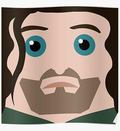 Aragorn Square Poster